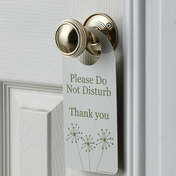 Dandelion Do Not Disturb Door Hangers