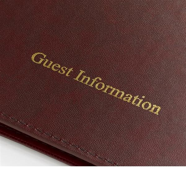 Chetham Guest Information Folder Burgundy (Gold Trim)
