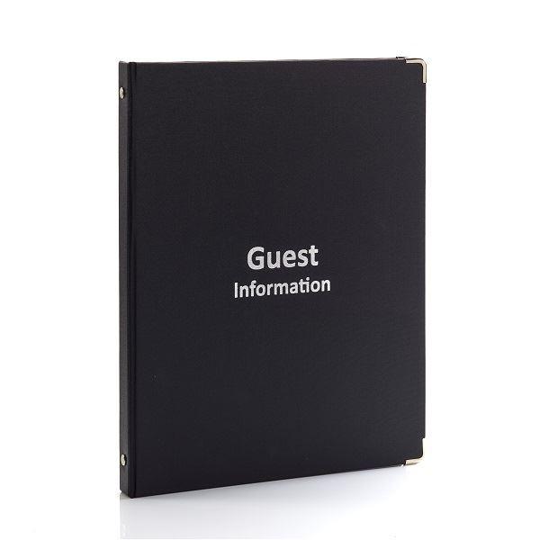 Wren Guest Information Folder Black A4
