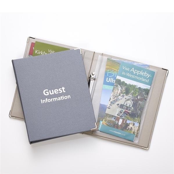 Wren A5 Guest Information Folder Beige