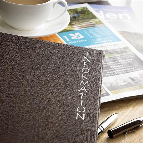 Leighton Information Folder Dark Brown