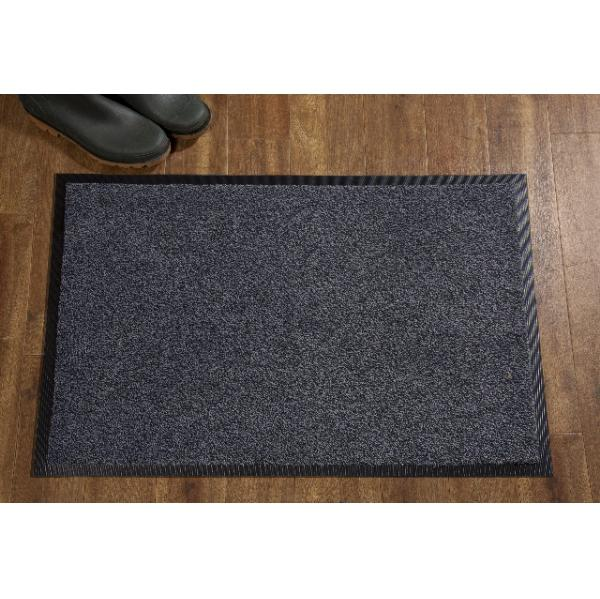 Entrance Door Mat Black Steel 85 x 120 cms