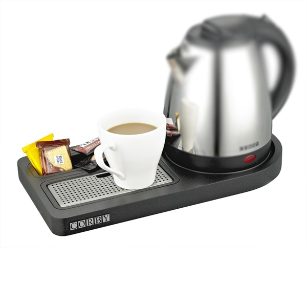 Corby Compact Welcome Tray (without Kettle) / Black