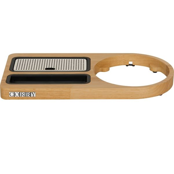 Corby Compact Welcome Tray (without Kettle) / Oak