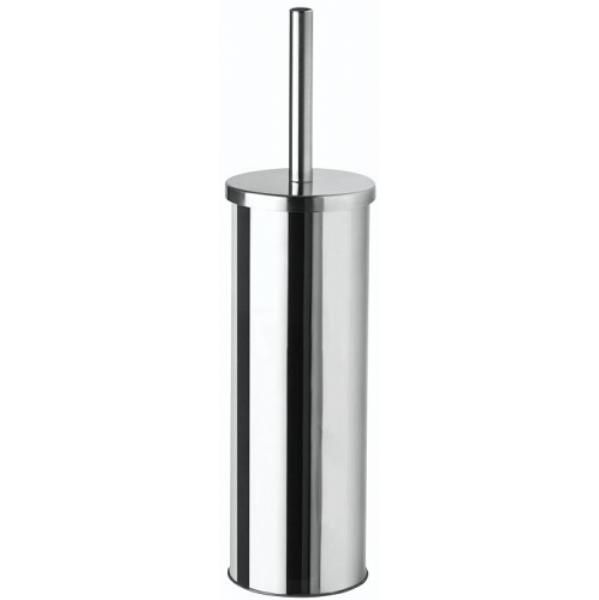 Toilet Brush & Holder Mirror Steel