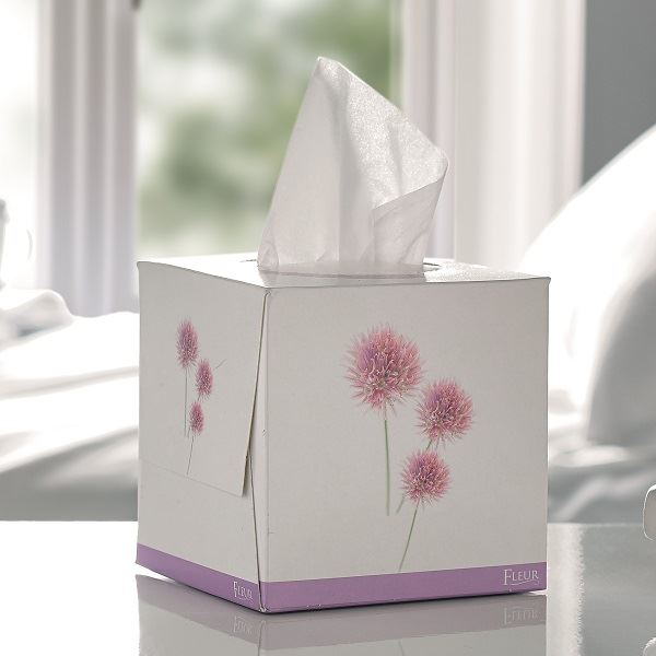 Fleur 2 Ply Tissue Cube Case of 24