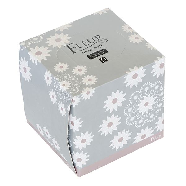 Fleur Ultra Soft 3 Ply Tissue Cube Case of 24