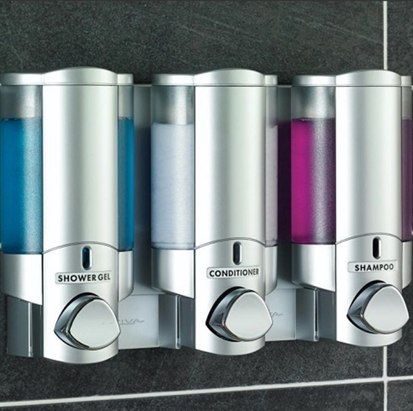 Aviva Chrome Translucent Dispenser, Lockable Triple