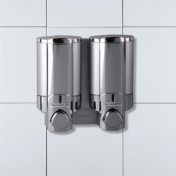 Aviva Chrome Opaque Satin Dispenser, Lockable Double
