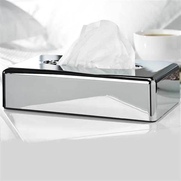 Oblong Chrome Tissue Holder