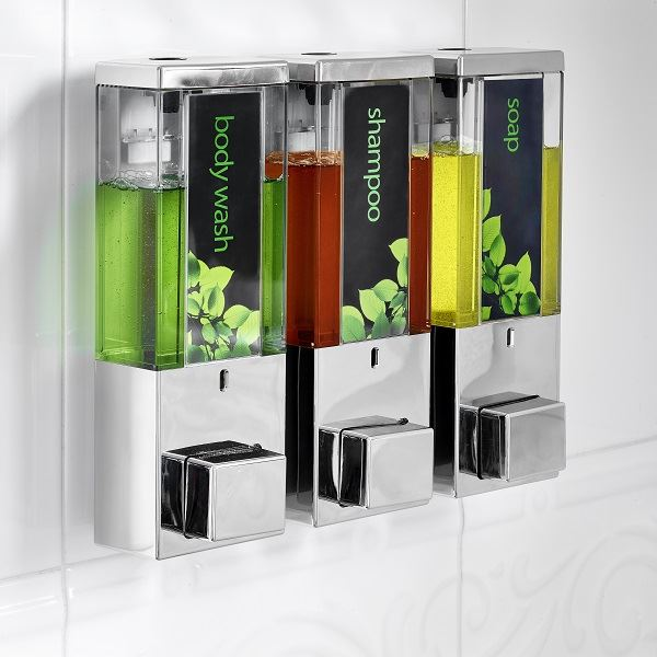 Iqon Dispenser Chrome Transparent Triple