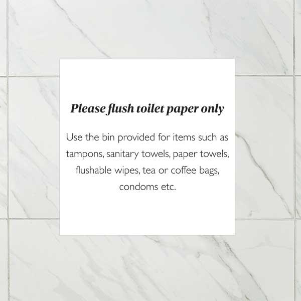 Sanitary Disposal Notice