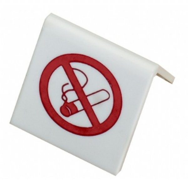 No Smoking Red Plastic Tent Sign,