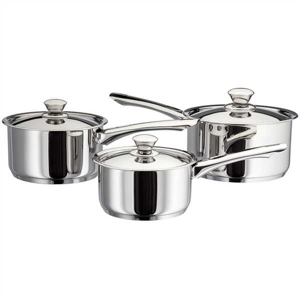 Judge Platina Pans Set of 3