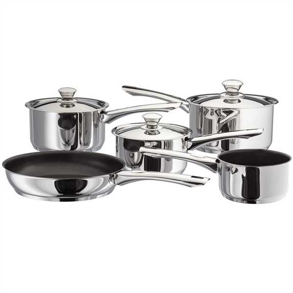 Judge Platina Pans Set of 5