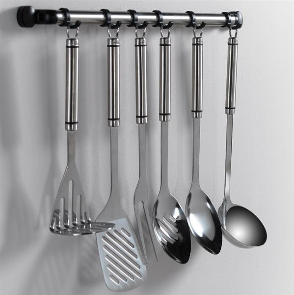 Utensil Hanging Rack With 6 Hooks
