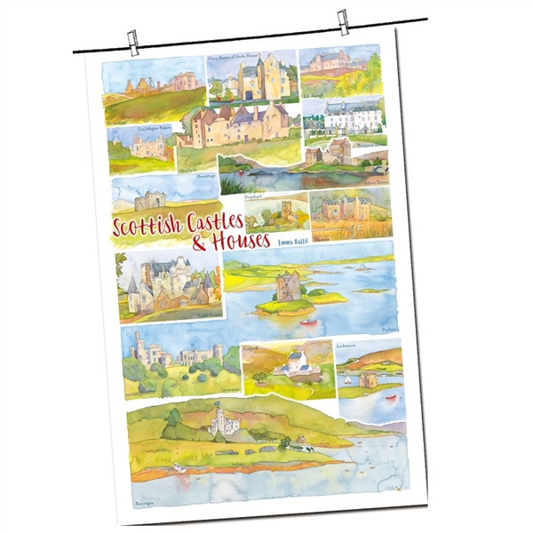 Tea Towel Emma Ball Regional Design / Scottish Castles