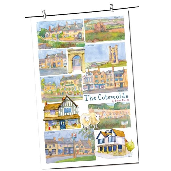 Tea Towel Emma Ball Regional Design / Cotswolds