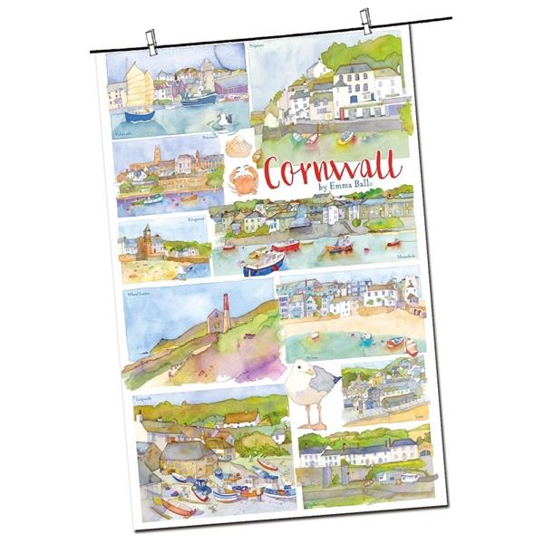 Tea Towel Emma Ball Regional Design / Cornwall