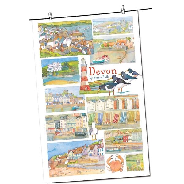 Tea Towel Emma Ball Regional Design / Devon