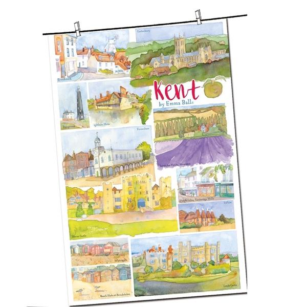 Tea Towel Emma Ball Regional Design / Kent