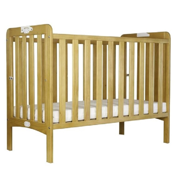 Holibobs Wooden Folding Cot With Mattress Non-Waterproof Mattress