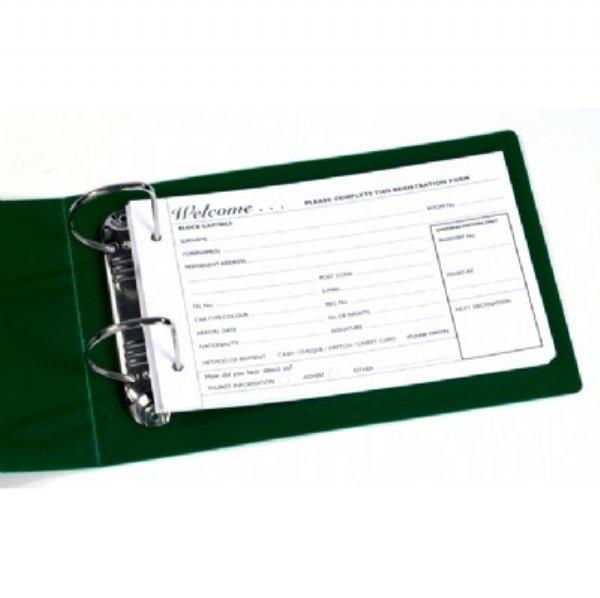 Registration Card Ring Binder