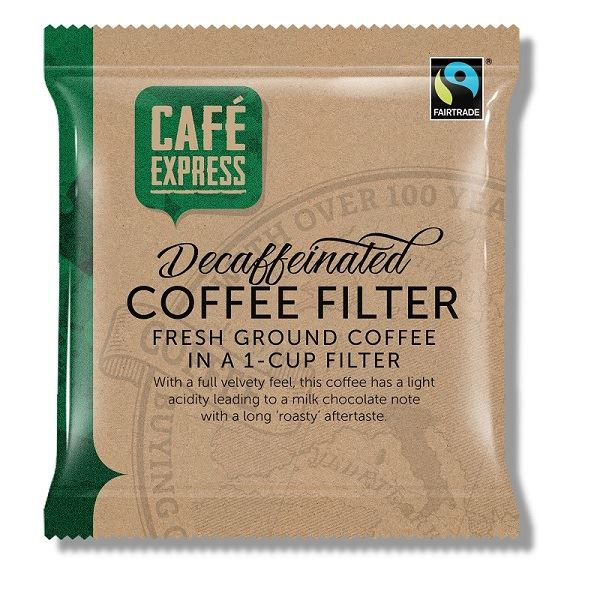 Cafe Express Fairtrade Decaffeinated, Sachet Sample