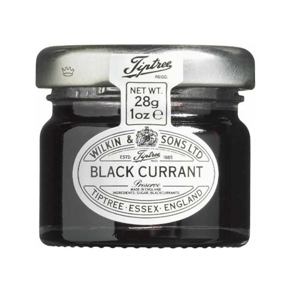 Tiptree Blackcurrant Jam 28g Mini Jar Sample
