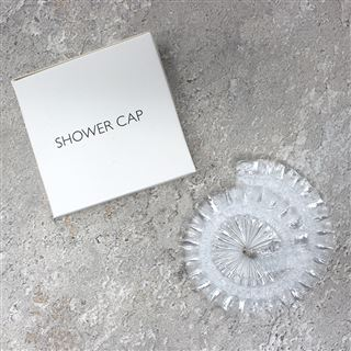 White Box Shower Cap