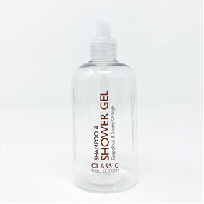 300ml Bottle & Pump - Shampoo & Shower Gel