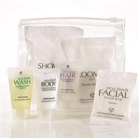 Eco Fresh Toiletries & Amenities Welcome Packs with 15ml Tubes