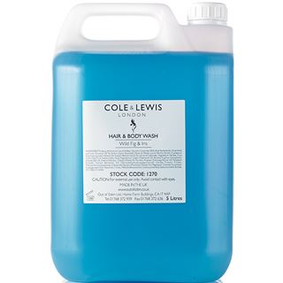 Cole & Lewis  Cole & Lewis Wild Fig and Iris Hair and Body Wash 5 Litres