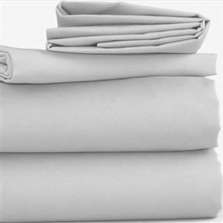 Grey Polycotton Bed Linen