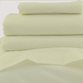 Polycotton Duvet Cover Ivory Single