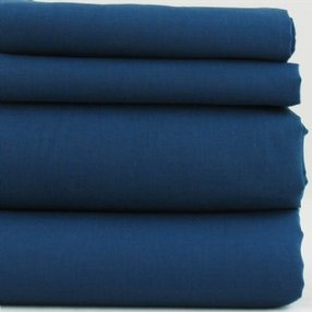 Navy Polycotton Bed Linen
