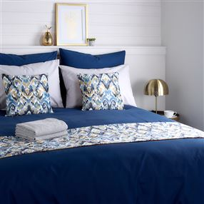 Out of Eden Expressions Navy Polycotton Bed Linen