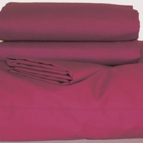 Polycotton Duvet Cover Burgundy King