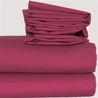 Burgundy Polycotton Bed Linen