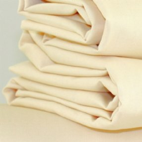 Polycotton Flat Sheet Rich Cream Single