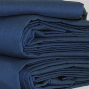 Polycotton Flat Sheet Navy Single