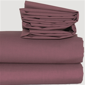 Expressions Flat Sheet Aubergine Single
