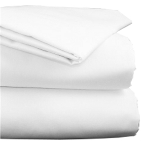 Polycotton White Fitted Sheet for Folding Bed 80cm