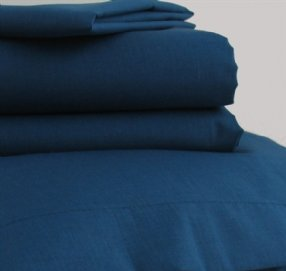 Polycotton Fitted Sheet Navy Single