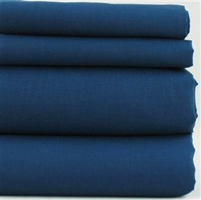 Polycotton Fitted Sheet Navy Double