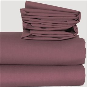 Expressions Fitted Sheets Aubergine 4' Special