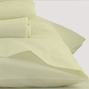 Polycotton Pair of Pillowcases Ivory