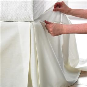 Instant Box Pleat Valance Ivory 4' Special 31cm