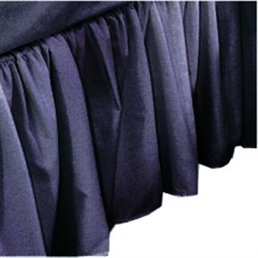 "Polycotton Frilled Base Valance 16"" Navy King"