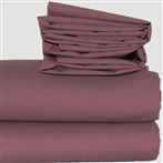 "Expressions Frilled Base Valance 16"" Aubergine King"